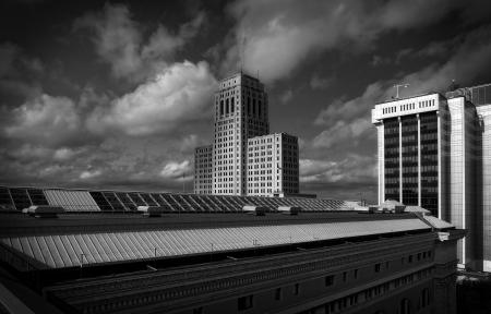 State Education Roof Top Showing the Alfred E. Smith Building ... Albany, N.Y.